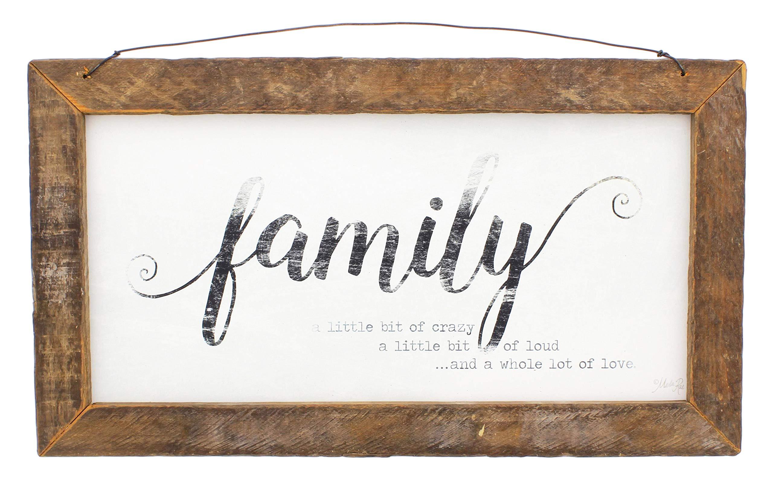 Jan Michaels Rustic Wood Framed Art (Family)