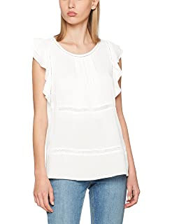 Clothes Vikate S/l Ruffle Top, T-Shirt Femme, Jaune (Yellow Iris Yellow Iris), 42 (Taille Fabricant: X-Large)Vila