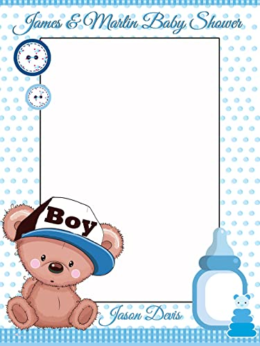 Amazon.com: Custom Home Decor Teddy Bear Baby Shower Photo Booth ...