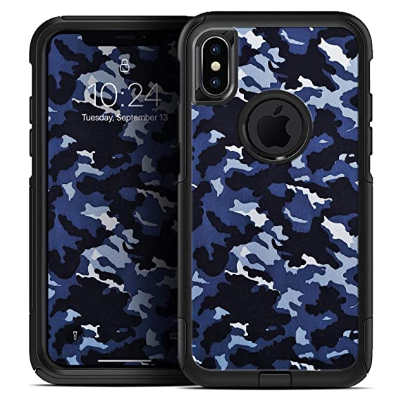 reputable site c1cce 36b7e Amazon.com: Blue Vector Camo - Skin Decal Kit for The iPhone 6 or ...
