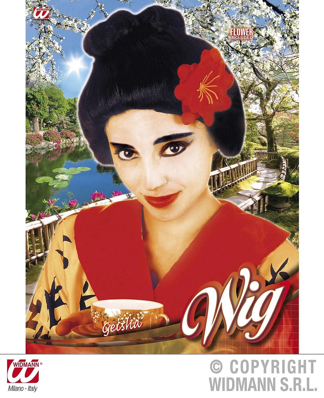 WIDMANN S.R.L. - Geisha con Peluca DE Flor: Amazon.es: Juguetes y juegos
