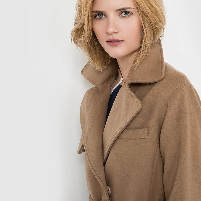 La Redoute - Abrigo - para Mujer marrón Claro 44 (DE)-46 (FR): Amazon.es: Ropa y accesorios