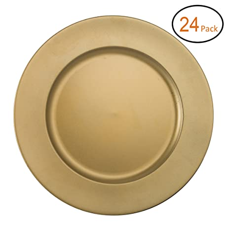 FANTASTIC ) Round 13 Inch Plastic Charger Plates with Powder Coating Finish (24  sc 1 st  Amazon.com & Amazon.com: FANTASTIC :) Round 13 Inch Plastic Charger Plates with ...
