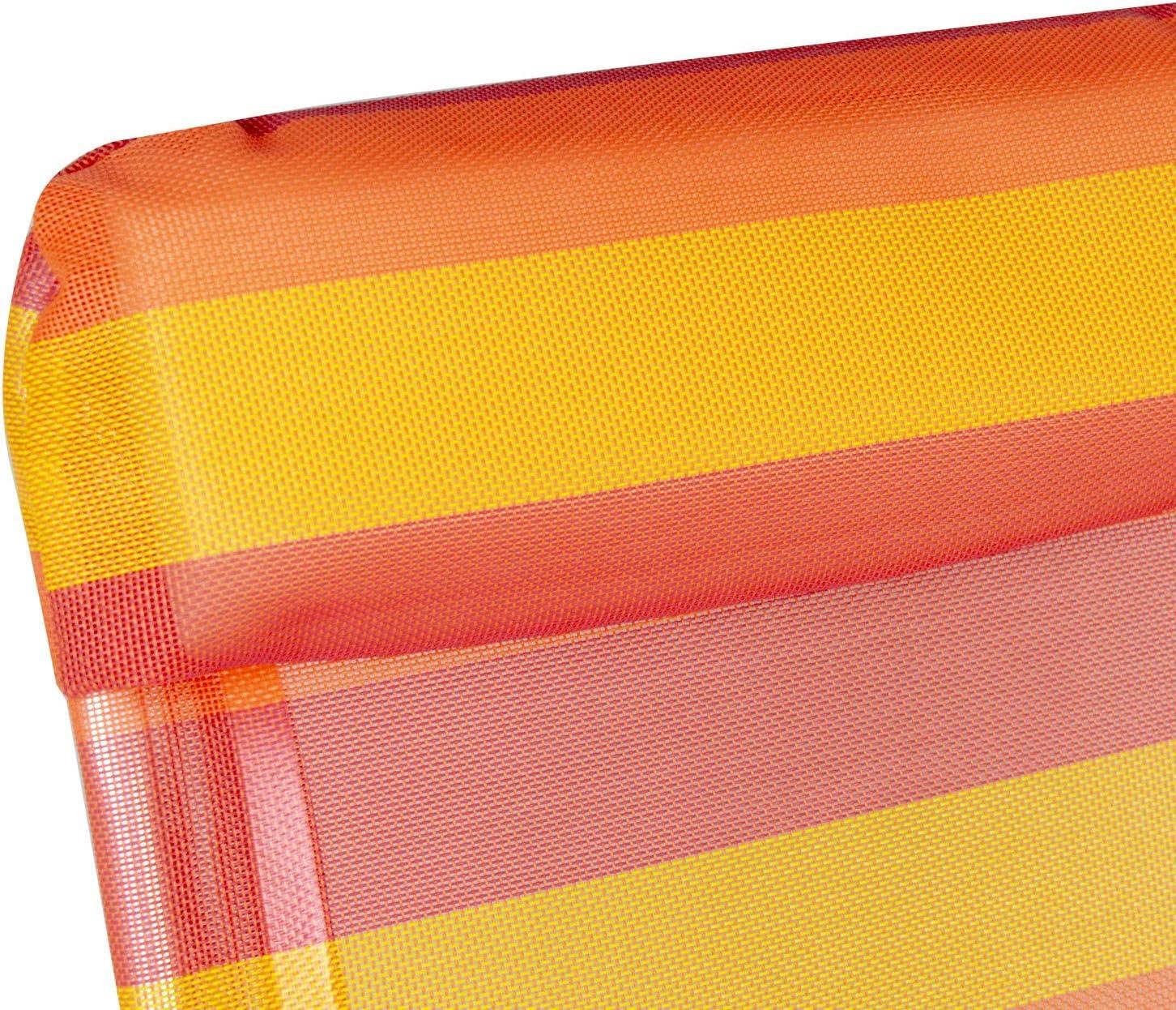 C Media Trade SL Poltroncina Textilene XYC-011 Colorata ONSHORE a Strisce Schienale reclinabile