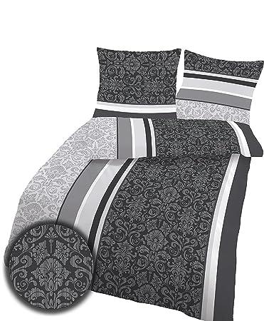 Soma Biber Bettwäsche 4 Teilig Bettbezug 155 X 220 Cm