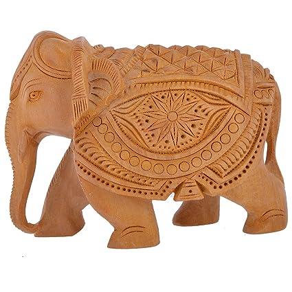 Buy Gac Gaura Art And Crafts Wooden Handicraft Home Decor Elephant