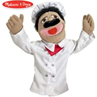 """Melissa & Doug Chef Puppet with Detachable Wooden Rod (Puppets & Puppet Theaters, Animated Gestures, Inspires Creativity, 15"""" H x 5"""" W x 6.5"""" L)"""