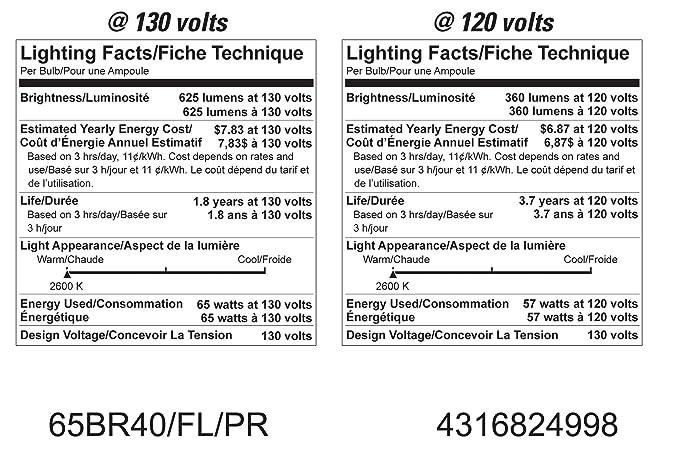 GE Lighting 24998 ProLine 65-Watt BR40 Flood Light Bulb, 6-Pack - Incandescent Bulbs - Amazon.com