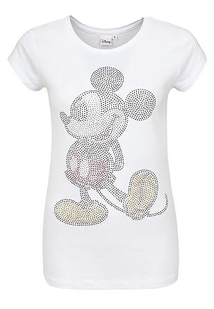 günstig großer Verkauf neue angebote Rock Angel Damen T-Shirt mit Strasssteinen   Lockeres Print-Shirt   Comic  Shirt