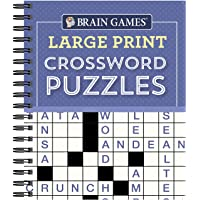 Image for Brain Games - Large Print Crossword Puzzles (Purple)