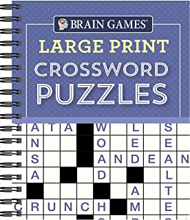 Crossword Easy Puzzle Books Crossword Puzzles for Seniors Large Print