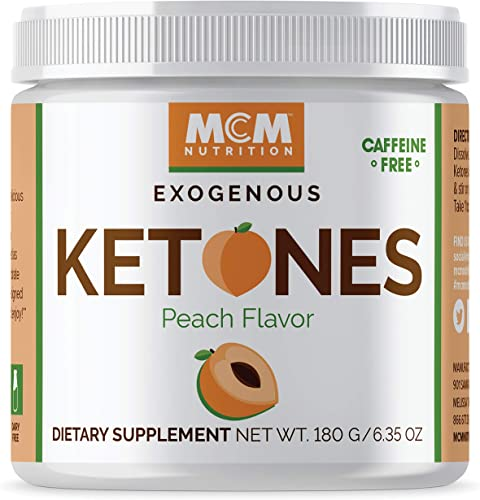 MCM Nutrition – Exogenous Ketones Supplement BHB – Caffeine Free and Suppresses Appetite – Instant Keto Mix That Puts You into Ketosis Quick Boosts The Keto Diet Peach Flavor – 15 Servings