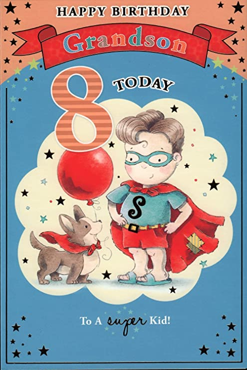 Nieto tarjeta de cumpleaños - Feliz cumpleaños para Nieto 8 ...