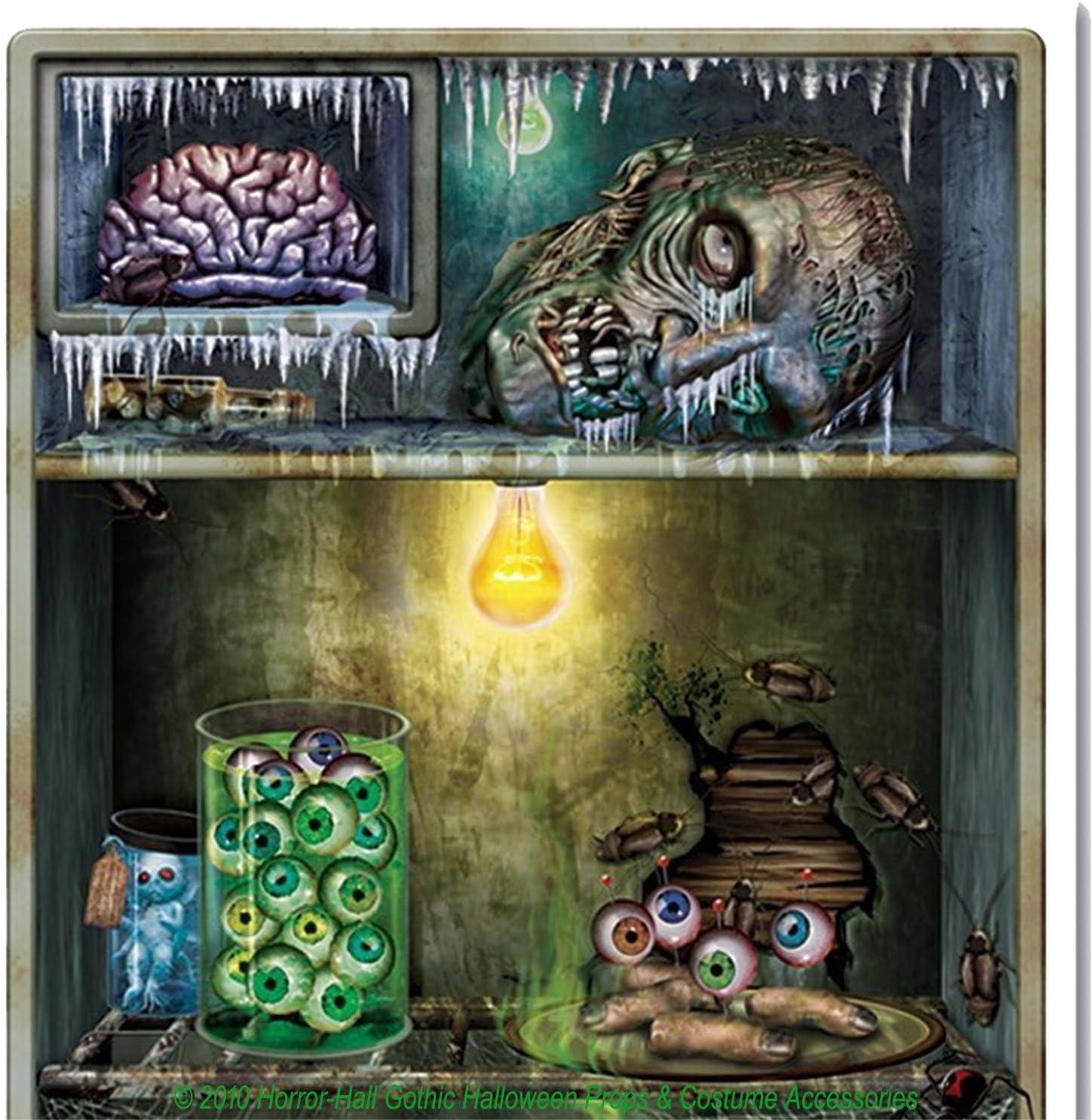 Halloween Body Parts Refrigerator Door Cover 30 x 60