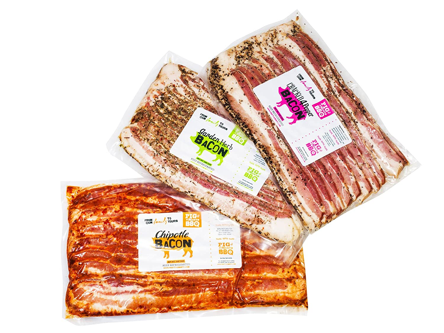 Amazon.com : Pig of the Month Gourmet 3lb Bacon Lovers Feast Gift ...