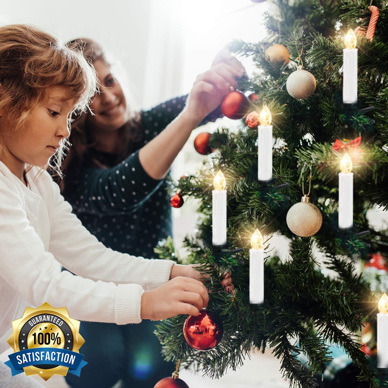 Kithouse 10 Pcs Christmas Tree Candles Lights Led Flameless Window