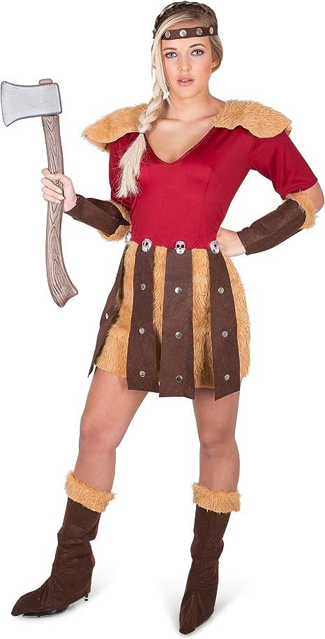 Generique - Disfraz Vikingo de los Dragones Mujer L: Amazon.es ...