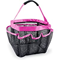 DII Portable Travel Collapsible Mesh Shower Caddie/Bath Tote with Pockets, Perfect for College Dorm, Pools, Gyms, Beaches, Locker Rooms