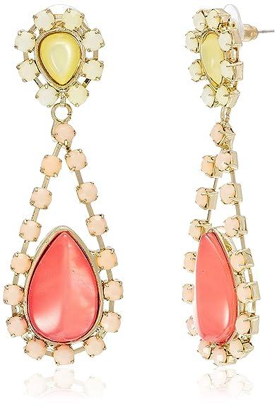 Buy Addons Drop Earrings for Women (Peach) (AW13EARBJWL001 PCH