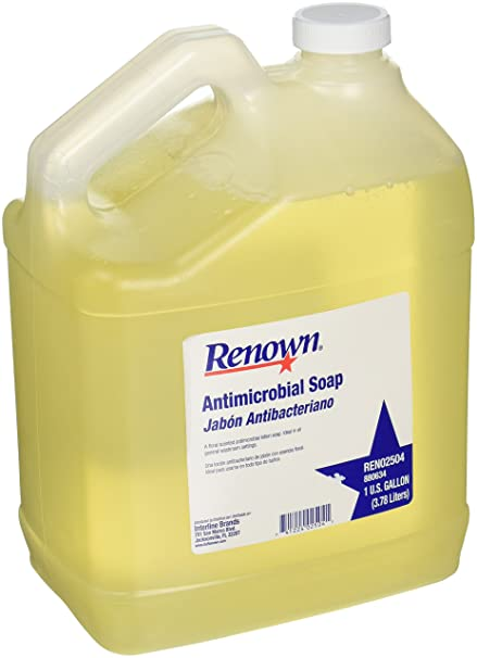 Renown REN02504 Antimicrobial Hand Soap, 1 Gallon, Gold, 4 Containers Per Case-