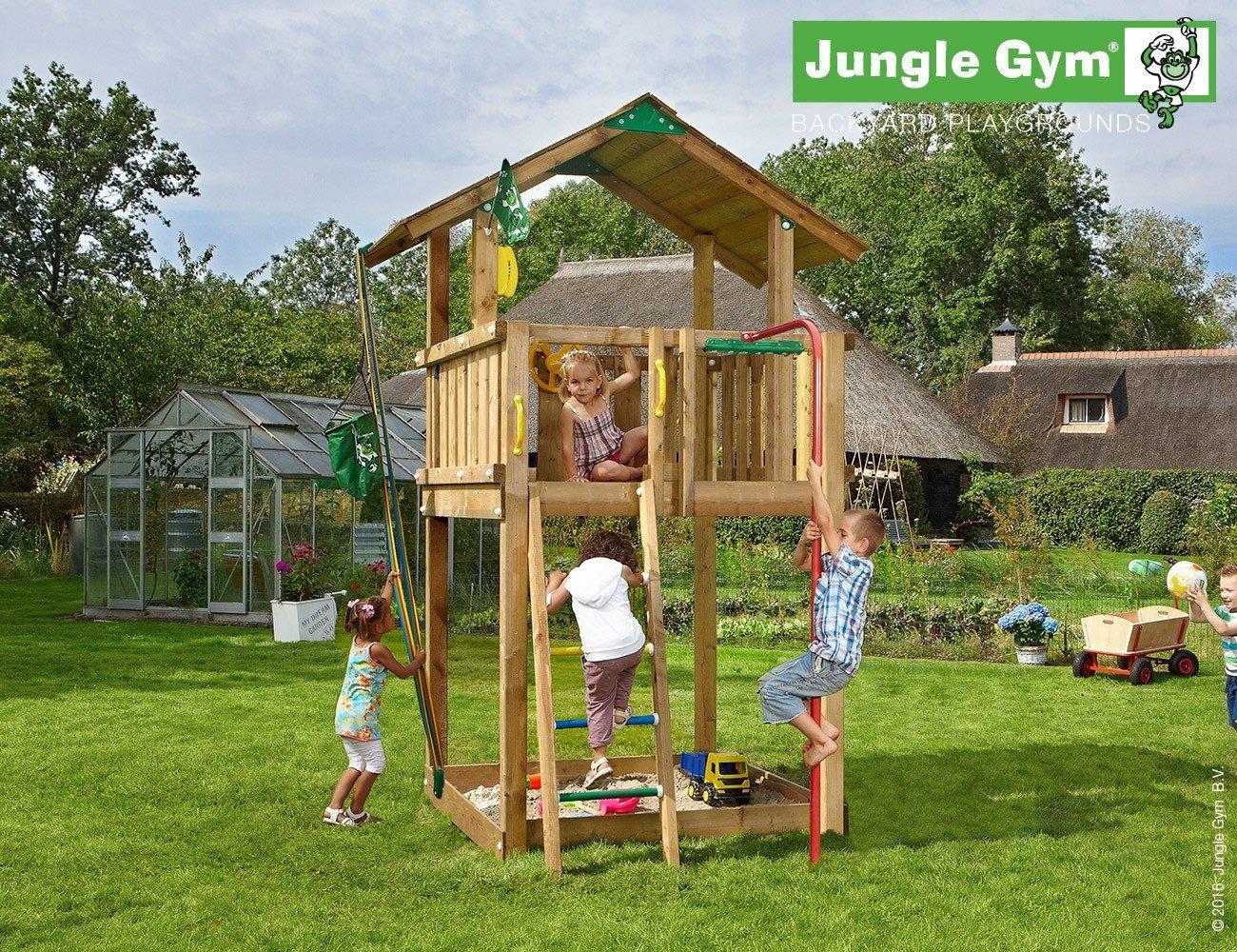 JUNGLE GYM Spielturm Jungle Chalet mit Rutschestange, Gesamtmaße (B/T/H): 200/390/310 cm