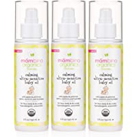 Mambino Organics Calming Ultra-Sensitive Soothing Oil Unscented – All Natural Fragrance Free with Jojoba & Evening…