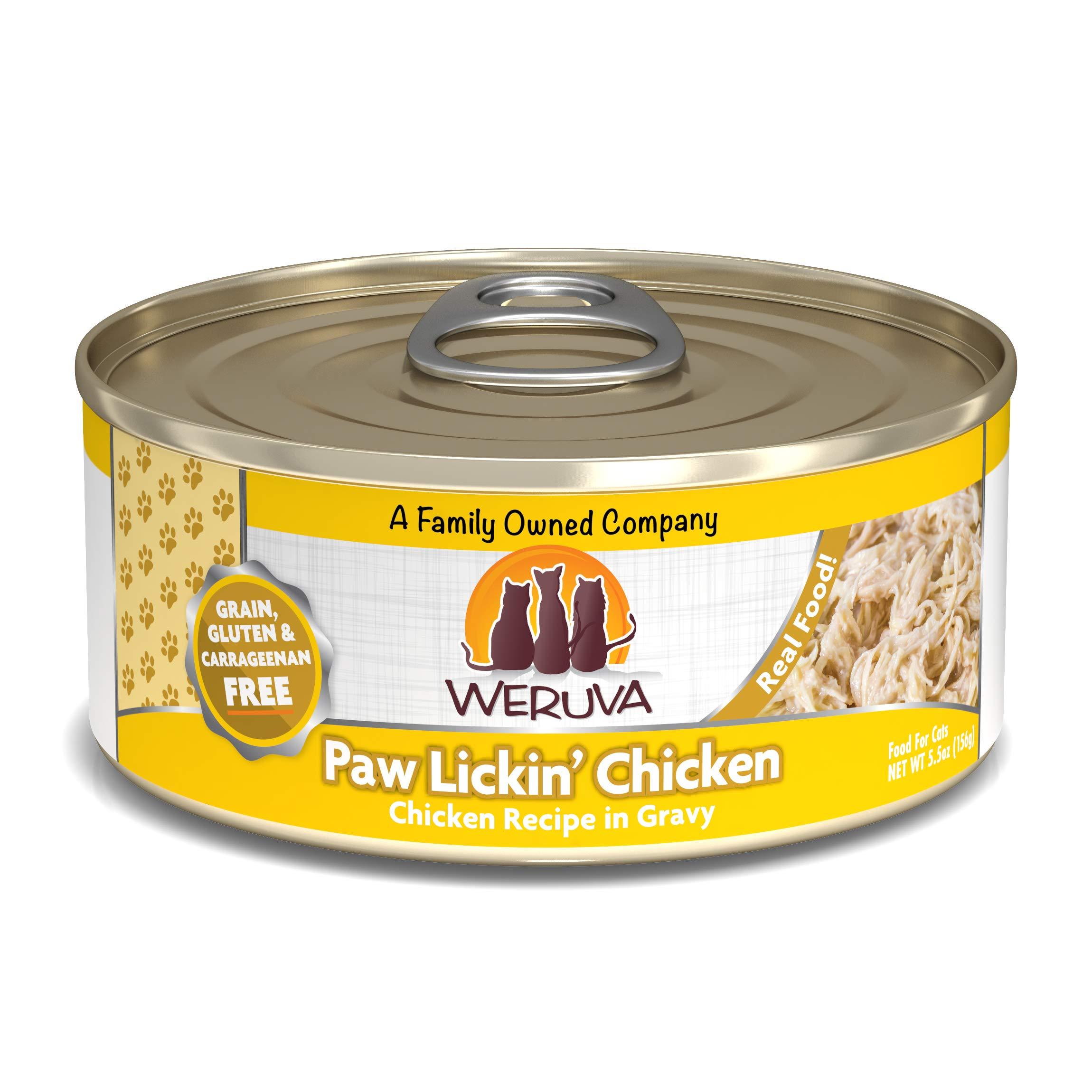 Weruva Classic Cat Food, Paw Lickin' Chicken With Chicken Breast In Gravy, 5.5Oz Can (Pack Of 24) by Weruva