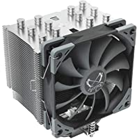 Ventilador del Enfriador de CPU 4 Tubos de lat/ón Ventilador 3RGB Radiador de disipador de Calor de CPU Ultra silencioso de 4 Pines Equipado con cojinete hidr/áulico Duradero