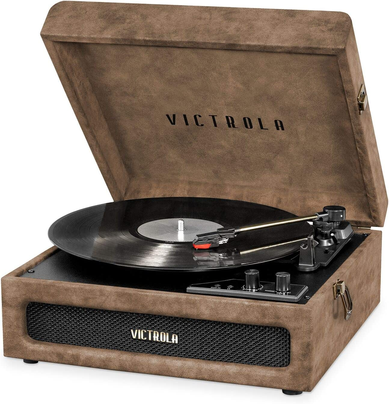 Victrola 3-in-1 Bluetooth Suitcase Record Player with 3-Speed Turntable