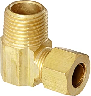 3//8 Tube OD x 1//2 NPT Male Pipe 3//8 Tube OD x 1//2 NPT Male Pipe 50069-0608 1595-1098 90 Degree Elbow Anderson Metals 50069 Brass Compression Tube Fitting