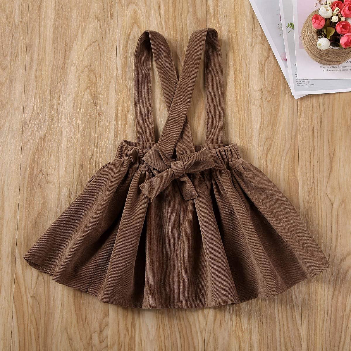 ZAXARRA Toddler Baby Girls Strap Suspender Skirt Overalls Dress Outfit