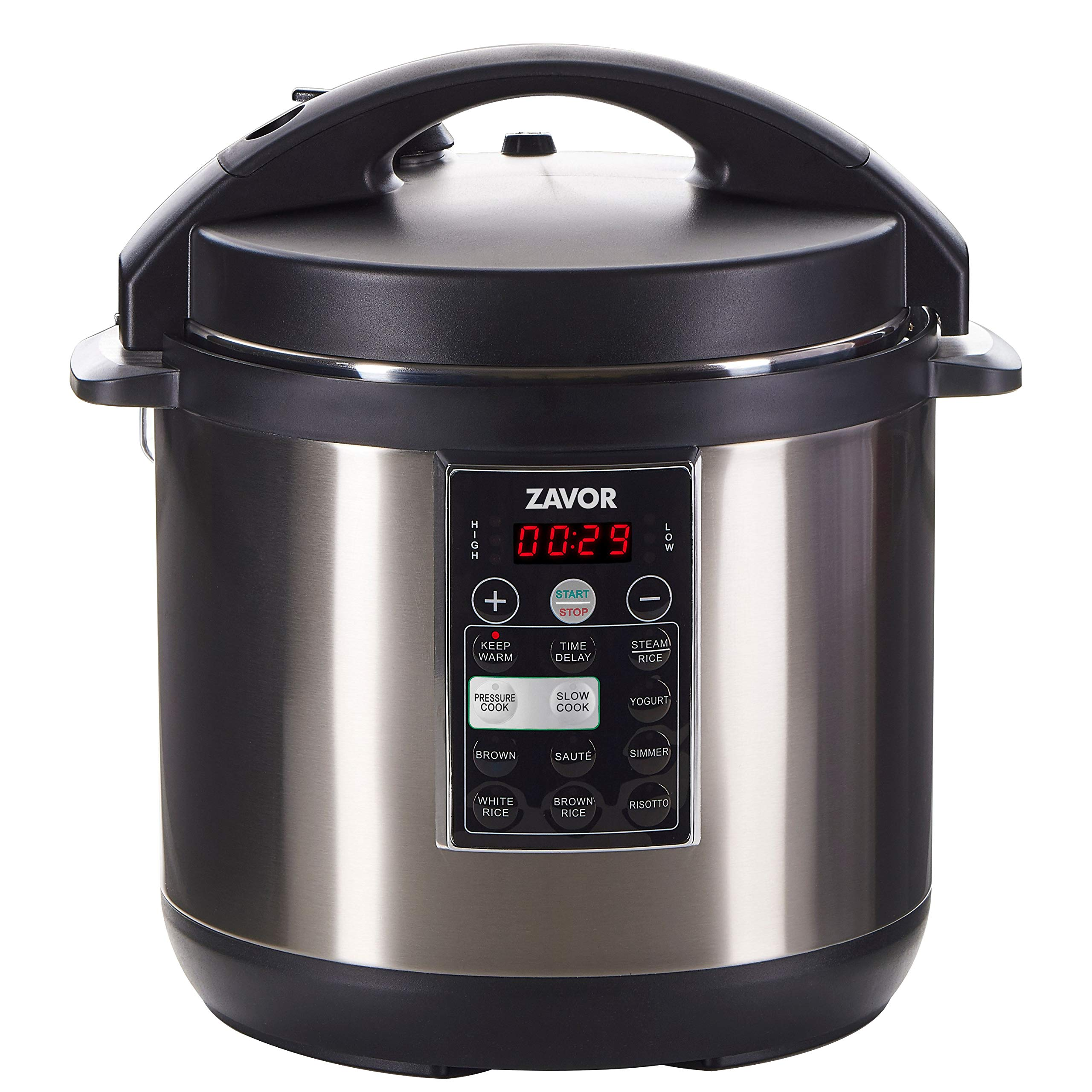 Zavor LUX Multi-Cooker, 6 Quart Electric Pressure Cooker, Slow Cooker, Rice Cooker, Yogurt Maker and more - Stainless Steel (ZSELX02)
