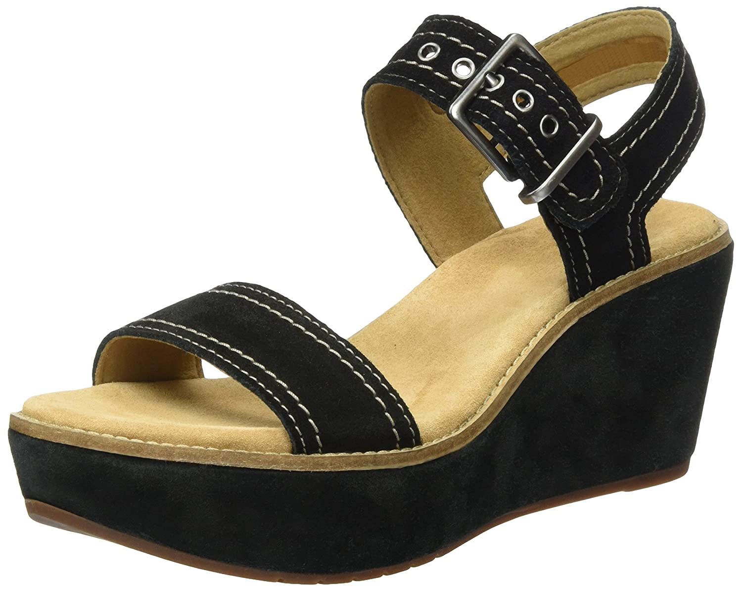 7f8345bc8226 Clarks Women s Aisley Orchid Wedge Sandal Brown  Amazon.co.uk  Shoes ...