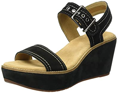 4e88e2221452 Clarks Women s Aisley Orchid Wedge Heels Sandals  Amazon.co.uk ...