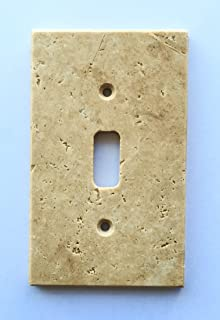 Ordinaire Light Walnut Travertine Switch Plate Cover Toggle   2.75 X 4.5 IN