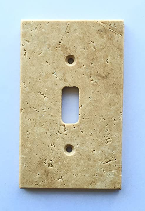 Charmant Light Walnut Travertine Switch Plate Cover Toggle   2.75 X 4.5 IN