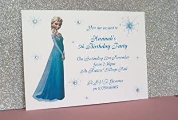 personalised birthday party invitations thank you cards elsa frozen
