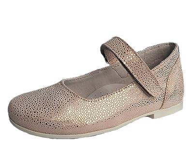 77a45ff87d41 ennellemoo Made in EU Mädchen-Kinder-Ballerinas Echt Leder-Schuhe -Spangenballerina-