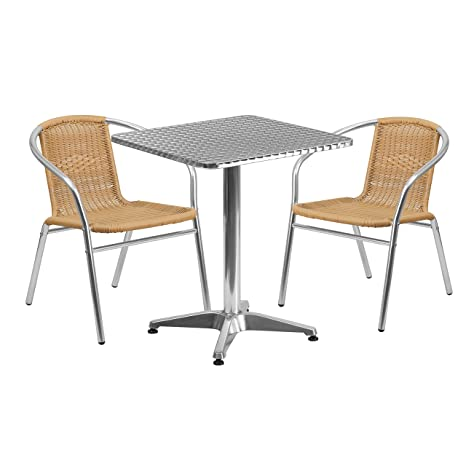 Amazon.com: Flash Muebles 23,5 en. Plaza Aluminio Indoor ...