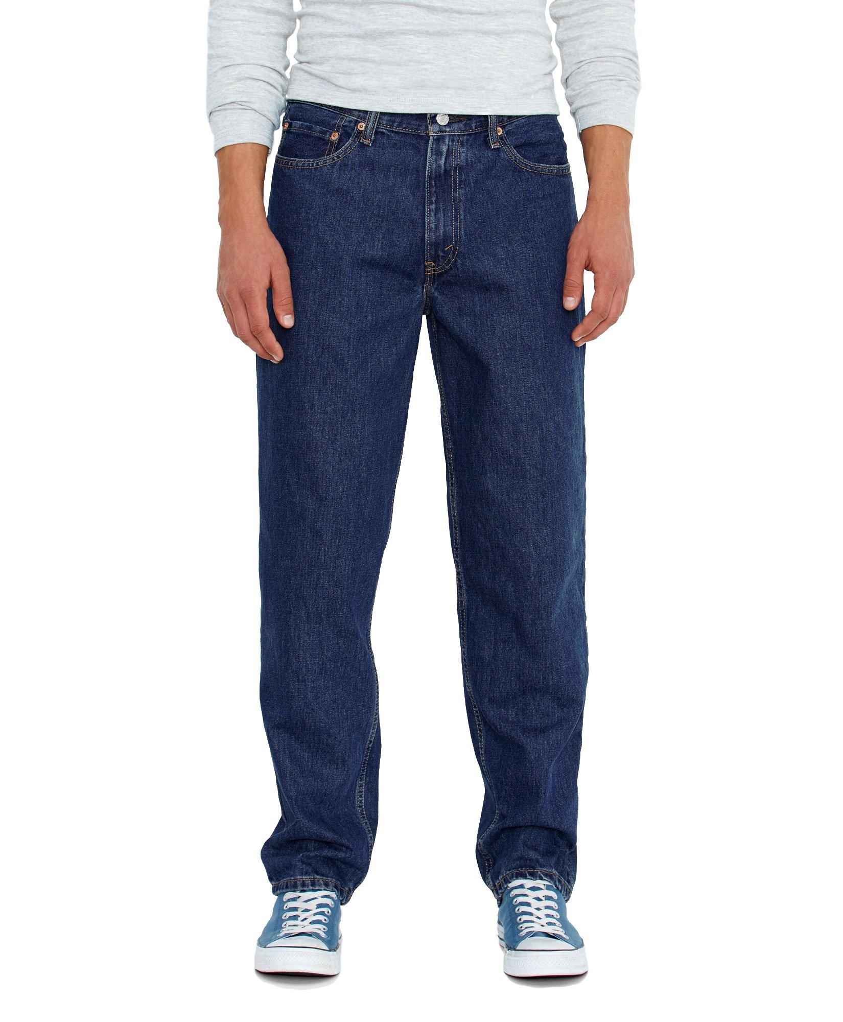 Levi's Men's 560 Comfort Fit Denim Jeans, Dark Stonewash, 42x34
