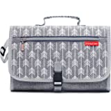 KiddyCare Portable Diaper Changing Pad with Built-in Head Cushion - Waterproof Cover Station for Travel for Boys and Girls