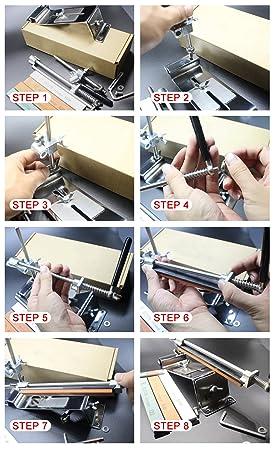Awesome HiCollie Profi Messerschärfer Küche Knife Messerschleifer Fixed  Winkel Sharpener Mit 4 Schleifsteinen: Amazon.