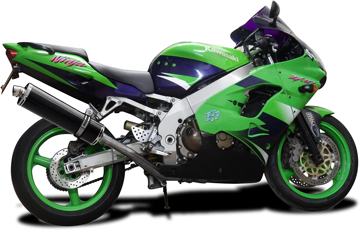 Delkevic Aftermarket Slip On compatible with Kawasaki ZX-9R Ninja 18