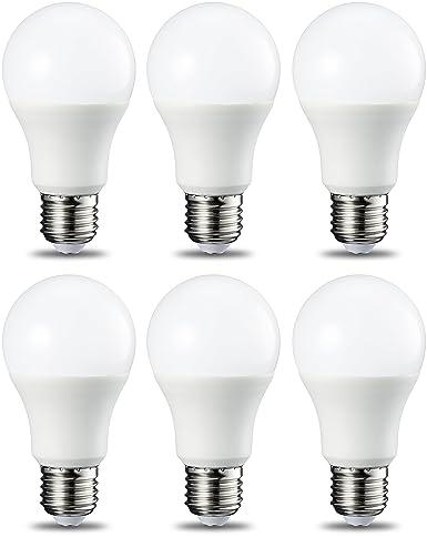 AmazonBasics Bombilla LED Esférica E27, 9W (equivalente a 60W), Blanco Frío -