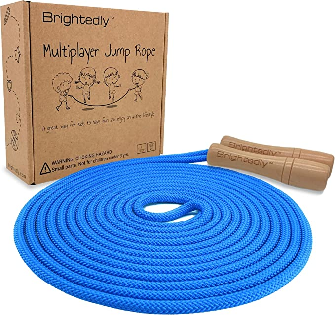 Cotton Jump Rope for Kids Exercise 5 Pack Student Jumping Rope for Outdoor Fun Activity Adjustable Toddler Skipping Rope with Wooden Handle