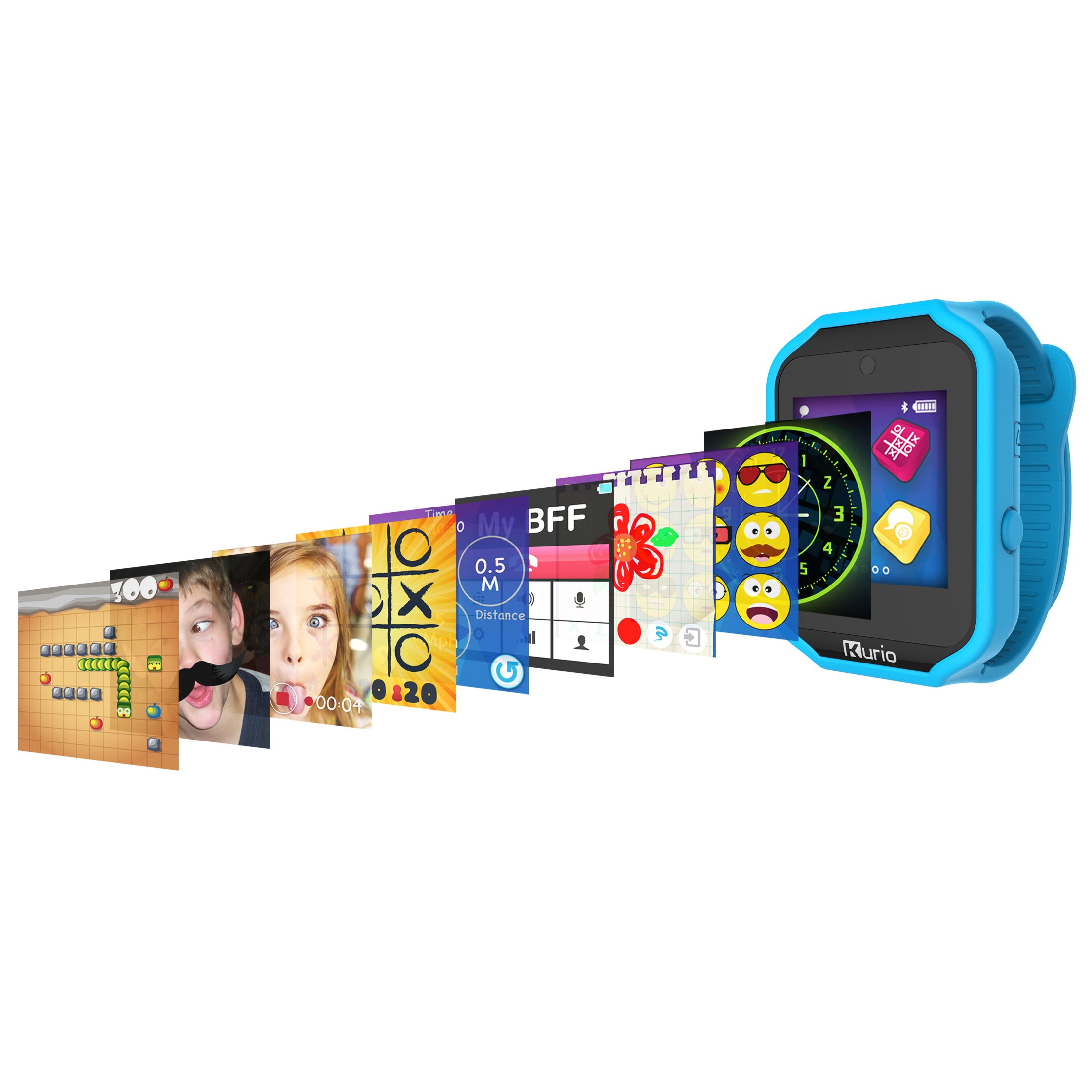 Kurio Watch 2.0+ The Ultimate Smartwatch Built for Kids with 2 Bands, Blue and Color Change by KD Interactive (Image #4)