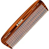 Kent 12T All Coarse Hair Detangling Comb Wide Teeth Pocket Comb for Thick Curly Wavy Hair. Hair Detangler Comb for…