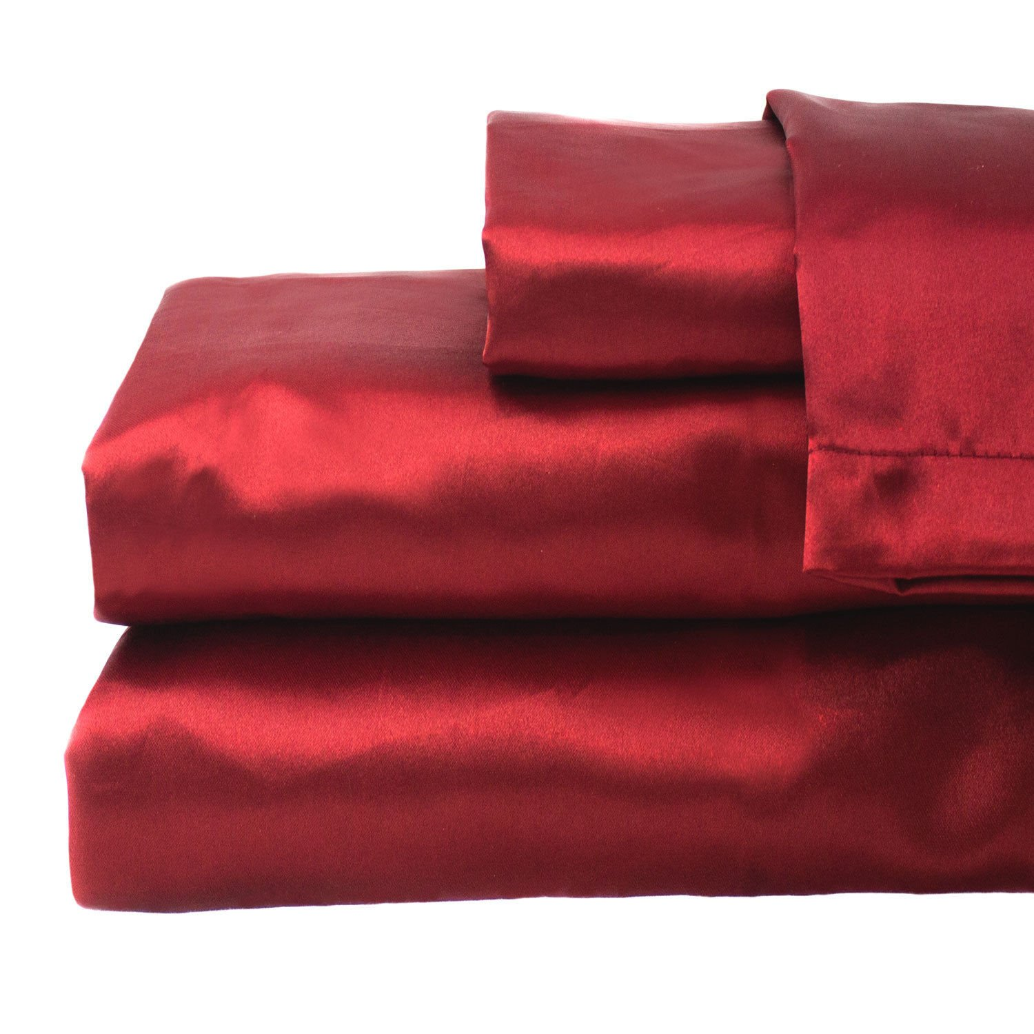 zry_dlifa Queen size Red Hotel Collection Satin Sheet Sets