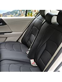 FH Group PU205013SOLIDBLACK Solid Black Ultra Comfort Leatherette Rear Seat Cushion