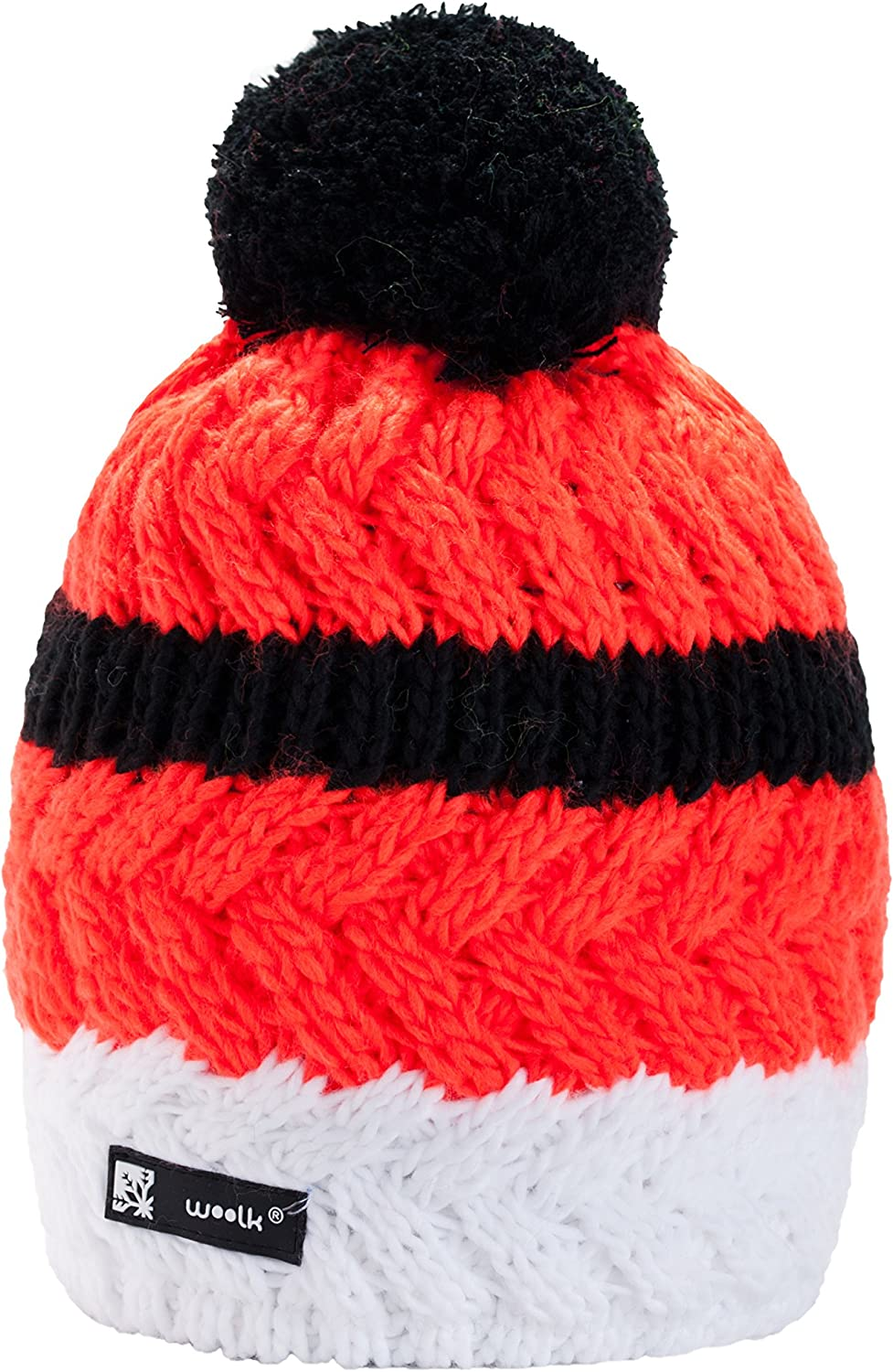 Unisex Kids Children Knitted Beanie Hat Cookie Style Winter Worm Girls Boys Ski